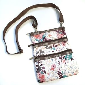 LeSportSac Floral Crossbody Purse Bag